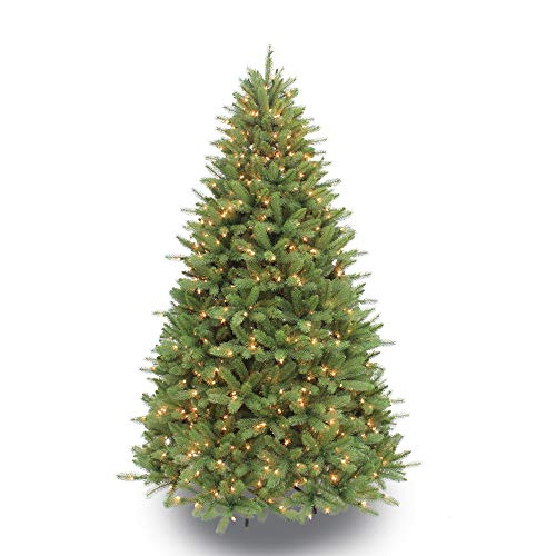 Puleo International 7.5 Foot Pre-Lit Premier Douglas Fir Artificial Christmas Tree with 800 UL Listed Clear Lights, Green (Best Hypoallergenic Christmas Trees)