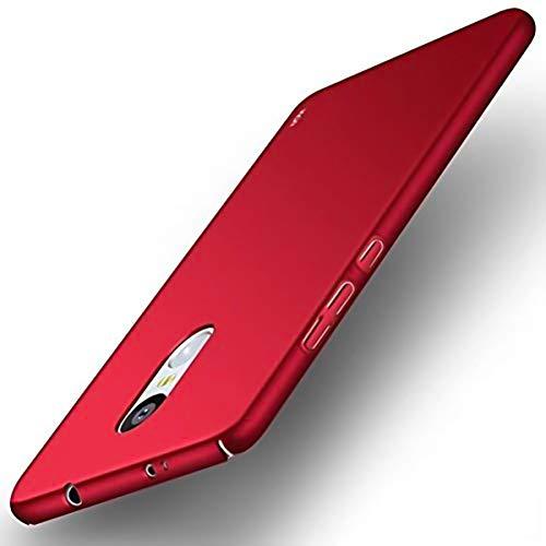 WOW Imagine Sleek Rubberised Matte Hard Case Back Cover For Xiaomi Mi Redmi Note 4   Maroon Wine Red