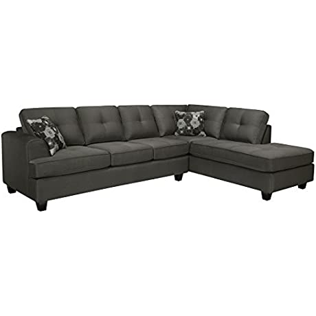 Sofaweb Com Chase Charcoal Grey Sectional Sofa