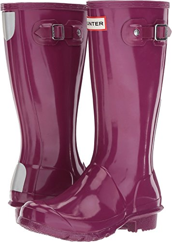 Kids Girls Hunter Original Gloss Violet Wellies Wellington Boots SIZE 13 (Hunter Kids Wellies)