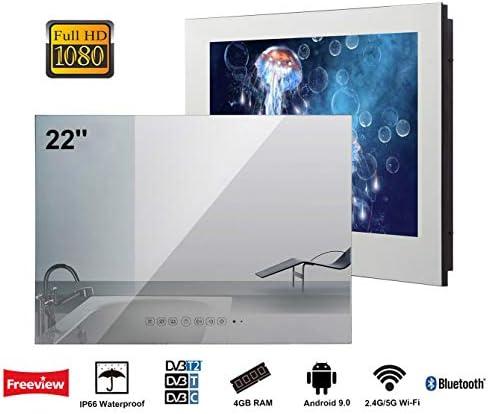 Soulaca Smart Android IP66 - Espejo de baño impermeable con Wi-Fi, altavoces integrados: Amazon.es: Electrónica