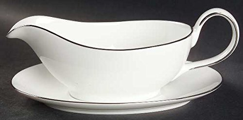 (Royal Doulton Signature Platinum Gravy Boat & Underplate, Fine China Dinnerware)