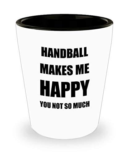 Handball Dimensions Team (Handball Shot Glass Shotglass Lover Fan Funny Gift Idea For Liquor Lover Alcohol 1.5oz Makes Me Happy)