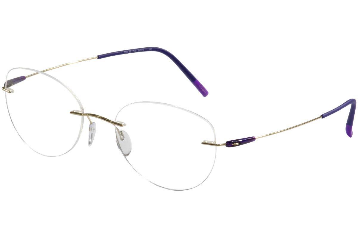 3c2d11d5aeb6a Amazon.com  Eyeglasses Silhouette Dynamics Colorwave ( 5500 ) 9040 black  49 19 145 3 piece f  Clothing