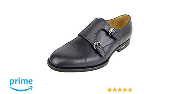30ec275fac0 Amazon.com  Gucci Men s Navy Blue Leather Double Horsebit Buckle Loafer  Shoes 322478 4009 (8 G   9 US)  Shoes