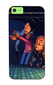 New Arrival Ian Collection 2010 Traditional Game With Upin And Ipin For Iphone 5c Case Cover Pattern For Gifts