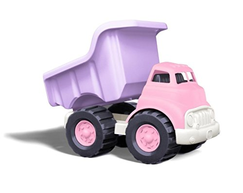 Green Toys Dump Truck in Pink Color - BPA Free, Phthalates Free Play Toys for Improving Gross Motor, Fine Motor Skills. Play Vehicles -