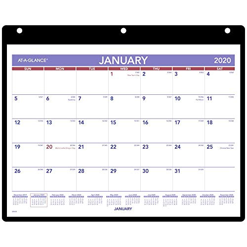 AT-A-GLANCE 2020 Monthly Desk/Wall Calendar, 11