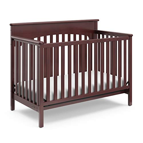 Graco Lauren Convertible Crib, Cherry, Easily Converts to Toddler Bed Day Bed or Full Bed, Three Position Adjustable Height Mattress, Some Assembly Required (Mattress Not Included) (Best Pottery Barn Glider)