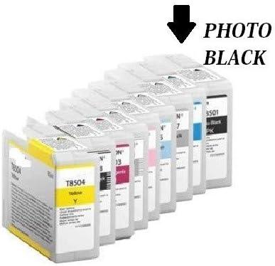 Cartucho Plotter Comp. (c13t850100) para Epson SureColor SC-P800 (80 ml), negro foto: Amazon.es: Electrónica