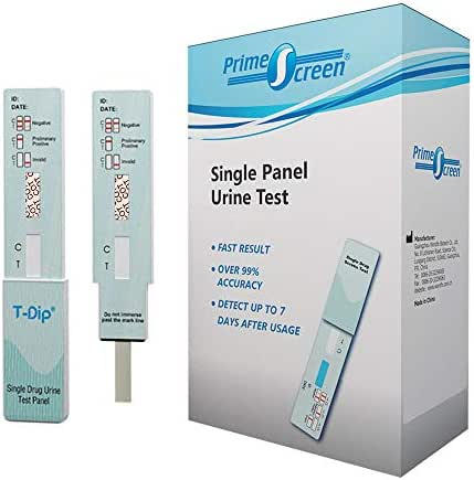 Prime Screen - [10 Pack] Nicotine / Tobacco / Cotinine Urine Test Kit - at Home Rapid Testing Single Panel Dip Card - WCOT-114