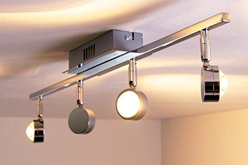 Attraktiv LED Deckenlampe Indore U2013 4 Flammige Deckenleuchte LED Mit Runden Glas  Lampenschirmen U2013 Leuchtköpfe Verstellbar