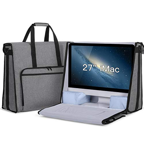 """Damero Carrying Tote Bag Compatible with Apple 27"""" iMac Desktop Computer, Travel Storage Bag for iMac 27-inch and Other Accessories, Gray"""