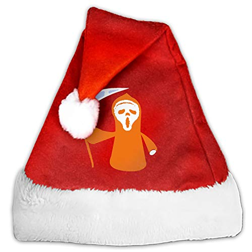 Halloween Scary Movie Print Christmas Santa Hat Unisex Funny Stylish Holiday Party Christmas -