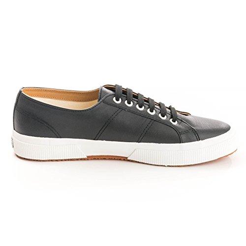 Superga Unisex Adulti 2750 Sneaker Nappaleau Nero Bianco