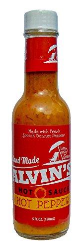 Alvin's Yellow Scotch Bonnet Pepper Hot Sauce, 5 Ounce, Vegan (Bonnet Pepper Sauce Scotch)