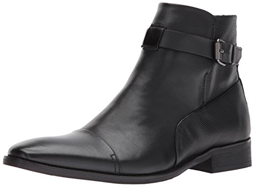 Calvin Klein Men's Rafael Dress Clf/Wave Grid Embs Boot, Black, 8.5 M US by Calvin Klein