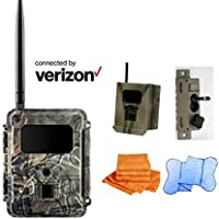 Cost Saving SPARTAN gocam Pre-packaged- Connected by Verizon Blackout Infrared Version (#GC-VCTb) Bundle with Security Box, Swivel Mount and Branded Microfiber Towels