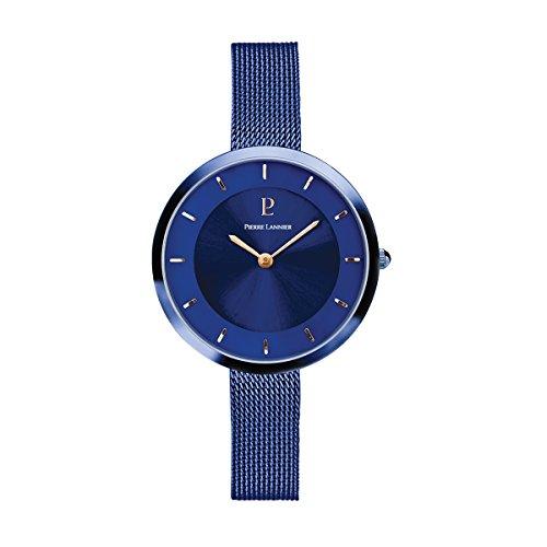Women's Watch Pierre Lannier - 076G668 - ELEGANCE STYLE - Dark Blue - Milanese Strap