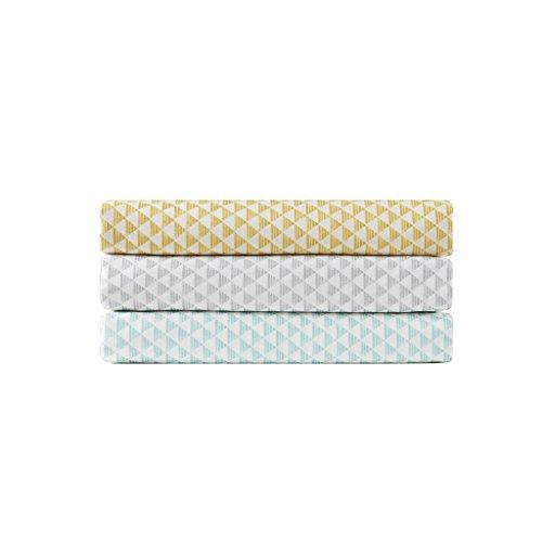 Intelligent Design Triangle Sheet Set, Twin X-Large, Yellow