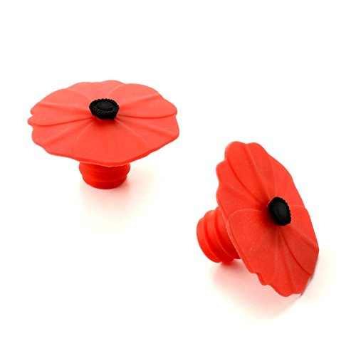 Charles Viancin Poppy Silicone Bottle Stopper, Set of 2 by Charles Viancin