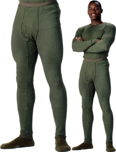 Rothco Thermal Knit Underwear Bottom, Olive Drab, Large