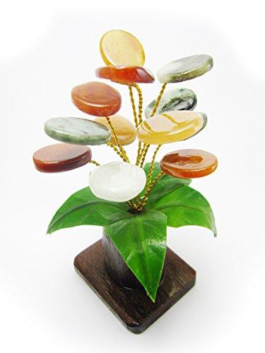 White Jade Elephant Pendant (Him-Moei Feng Shui The Jade Stone Money Tree Natural Green Jade, Design of haulm is Teak and Leaves is soft)