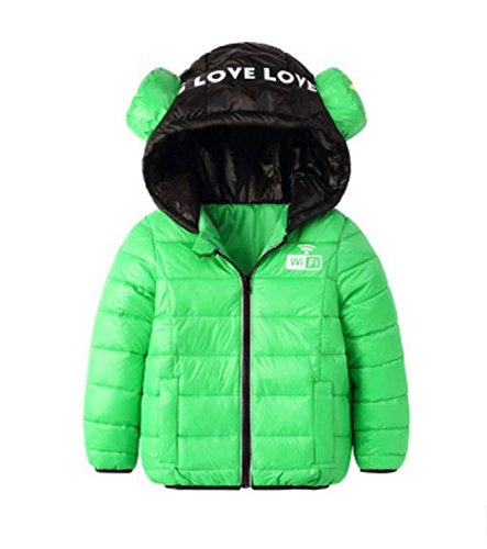 Children Winter Jackets Cotton-Padded Jacket Thicken Hooded Kids Down Coats and Jackets Teenage Boys Parka Girls 3 8 10 Years Green 6