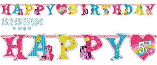 My Little Pony Kids Birthday Party Jumbo Add An Age Letter Banner 10 Ft. (1ct)