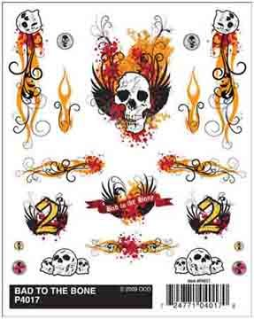 Pinecar Dry Transfer Decals, Bad to The Bone, -