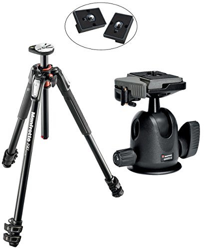 Manfrotto MT190XPRO3 3 Section Aluminum Tripod Kit w/ - Manfrotto Tripod 190xb