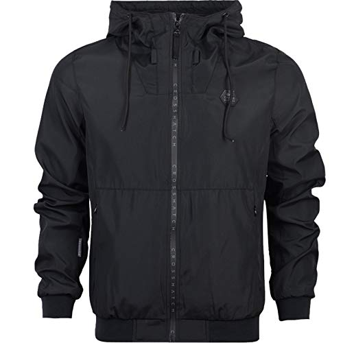 Manica Uomo Rain Jacket Lunga Giacca Proof Nero Crosshatch IpwSCqFn
