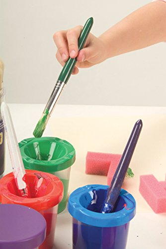 Creativity Street Paint Cups with Brushes, 20 Piece Set (AC5104)