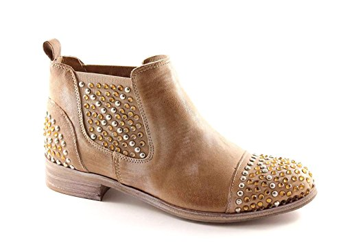 Madness Boots Leather Woman 375B Taupe Divine Beatles Rhinestone Beige BRdqIR