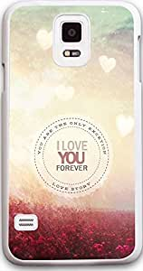 """Dseason Samsung galaxy S5 case , High Quality Personalized Protector quotes Flowers Sea """"i love you forever""""Kimberly Kurzendoerfer"""