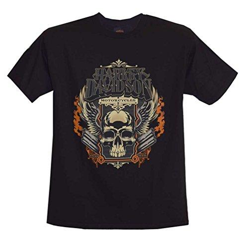 Harley-Davidson Men's T-Shirt, Skull Pipes Short Sleeve Tee, Black 30291454 (M)