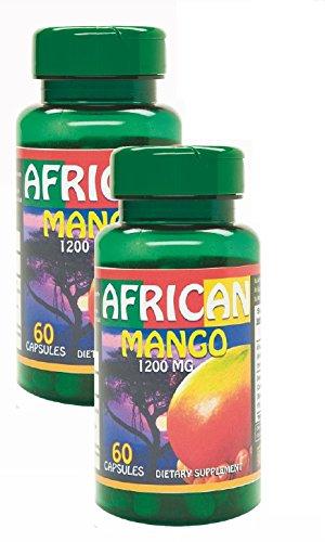 African Mango Capsulas. Excelente quemador de grasa. Set de 2 frascos. Controla colesterol, trigliceridos y azucar. Ayuda a reducir grasa Corporal de manera Natural.