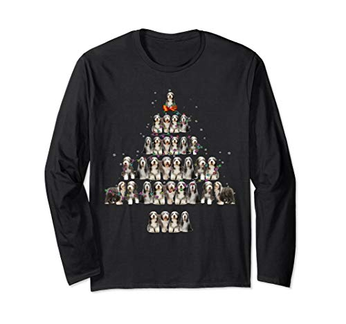 Bearded Collie Christmas Tree Long Sleeve Xmas -