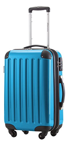 (HAUPTSTADTKOFFER - Alex - Carry on luggage Suitcase Hardside Spinner Trolley Expandable 20¡° TSA Cyan blue)