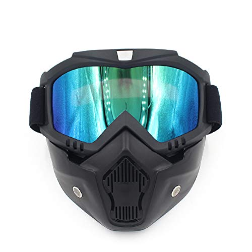 de de Aire máscara Monta de Libre Gafas New la la Equipo la de de Lente Que máscara al máscara lan la la Casco el Campo través Shuo Blue Color Blue máscara Motocicleta de Harley a qRH6tRw