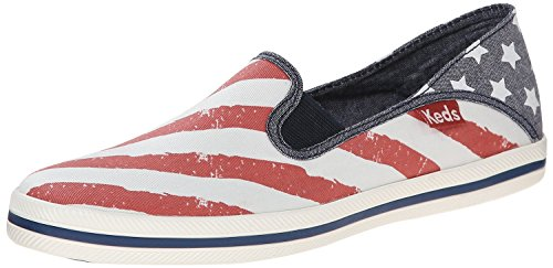 Keds Women's Crashback Patriotic Slip-On Sneaker, Red/White/Blue, 5.5 M US