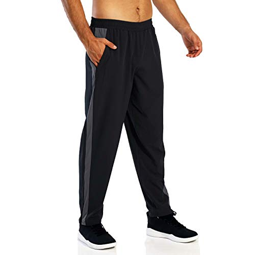 MAGCOMSEN Men's Open Bottom Sweatpants with Ankle Zipper Elastic Waist Joggers for Yoga,Runing,Workout