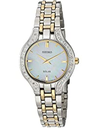 Seiko Women's Quartz Stainless Steel Casual Watch, Color:Two Tone (Model: SUP335)