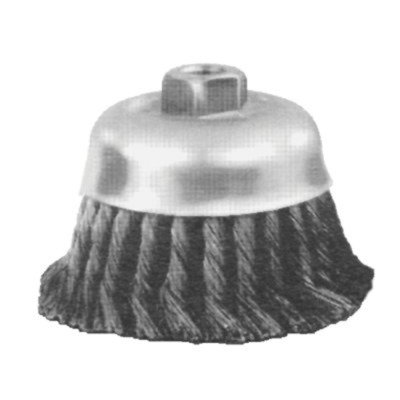 Advance Brush 410-82522 4 Inch Knot Wire Cup Brush .014 Cs Wire 5-8-11