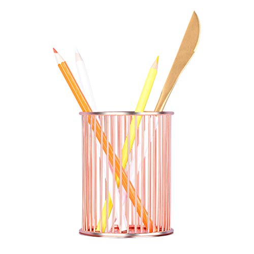 UMFunRound Pen Pencil Holder Office Supplies Desk Organizer Iron Makeup Brush Tube ()