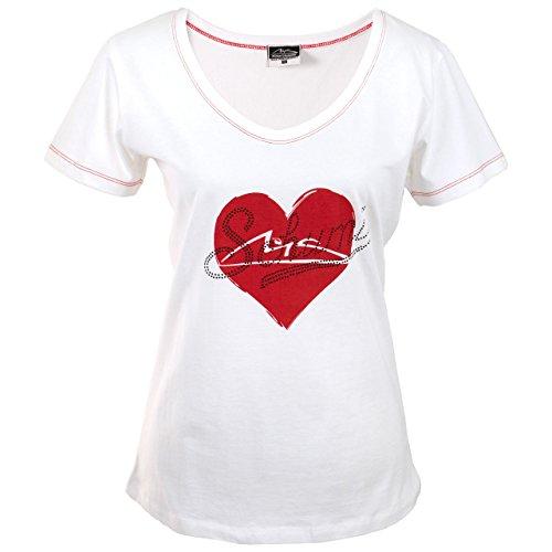 Michael Schumacher Authentic Women's Heart T-Shirt (XL) - Michael Schumacher T-shirt