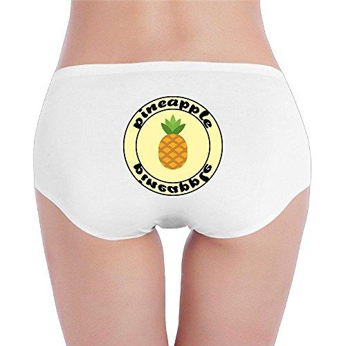 Wrsed Women's Panties Cartoon Pineapple Icon Seamless Briefs Stretch Cotton Soft Low Waist Underwear ()