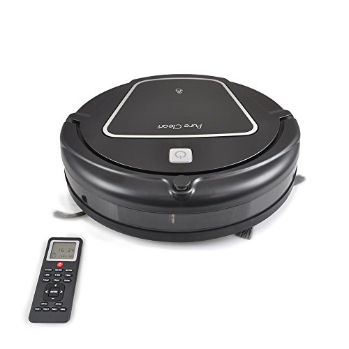 Robot Vacuum Cleaner - Pet and Allergy Friendly - Features Weekly Schedule Home Cleaning, Charging Dock, Wet Mop Attachment and Rechargeable Virtual Wall - PureClean PUCRC65 (Wet Vacuum Cleaner Pets compare prices)