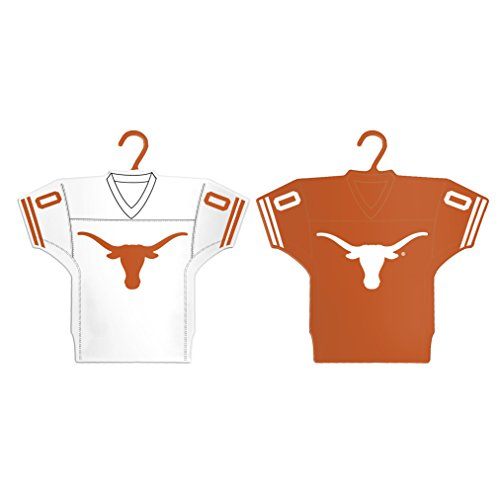 Football Texas Jersey Longhorns (Boelter Brands NCAA Texas Longhorns Home & Away Jersey Ornament, 2-Pack)