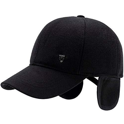 Vinteen Sombrero Hombres Sombrero de Invierno Gorra de béisbol Mantén la  protección cálida Oído Padre Mediana b8b1aa60023